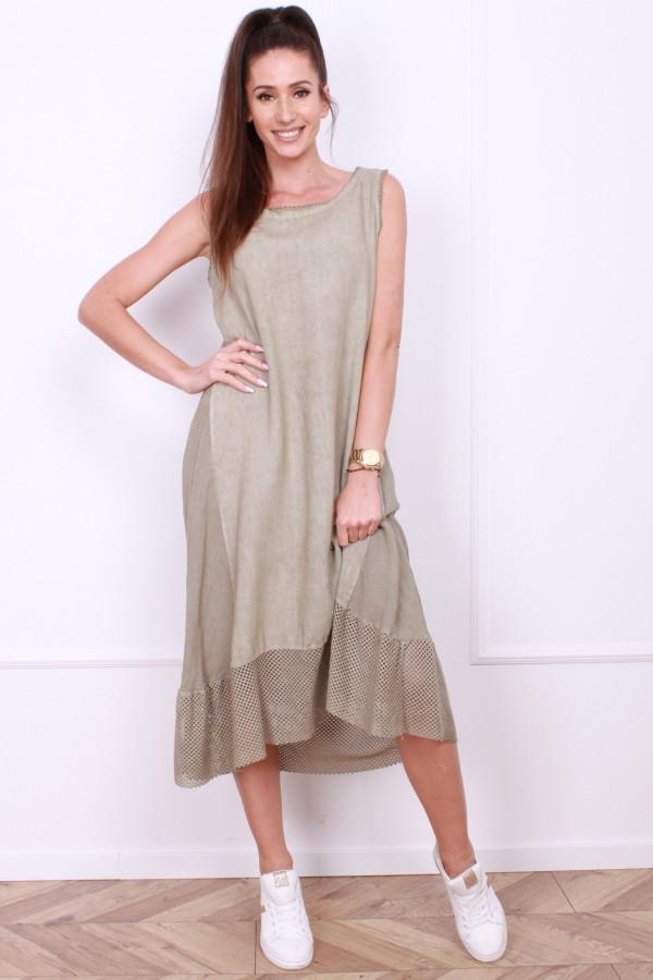 Sukienka lniana długa 7