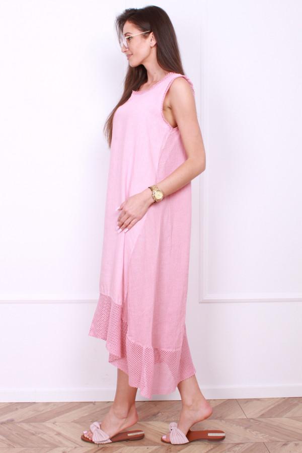 Sukienka lniana długa 1
