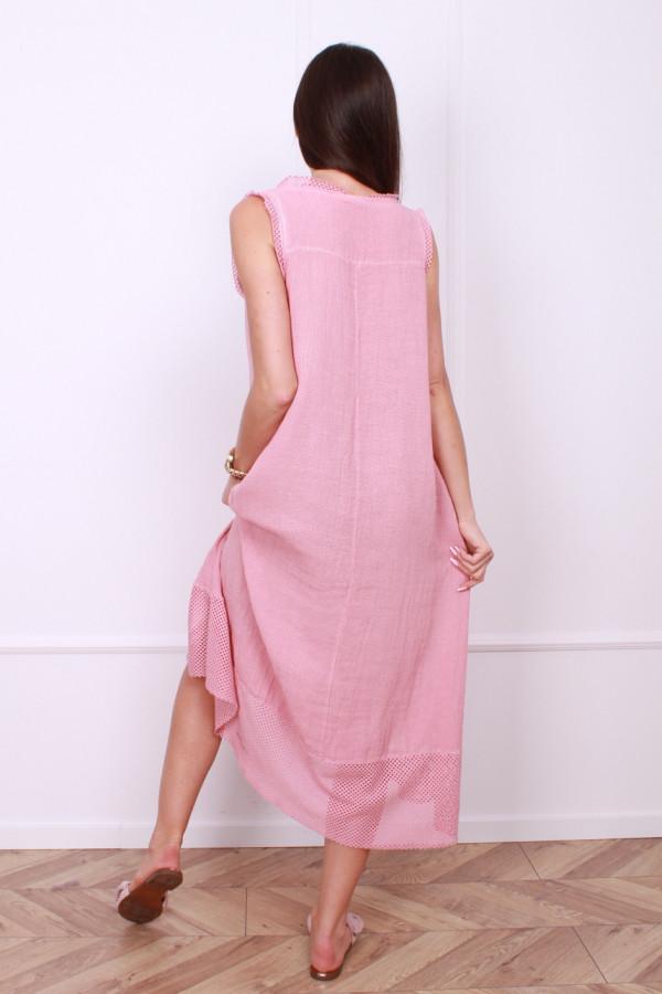 Sukienka lniana długa 2