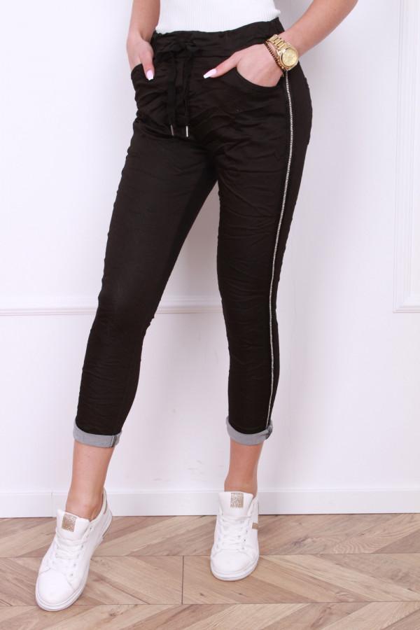 Spodnie gniecione z cyrkoniami 3