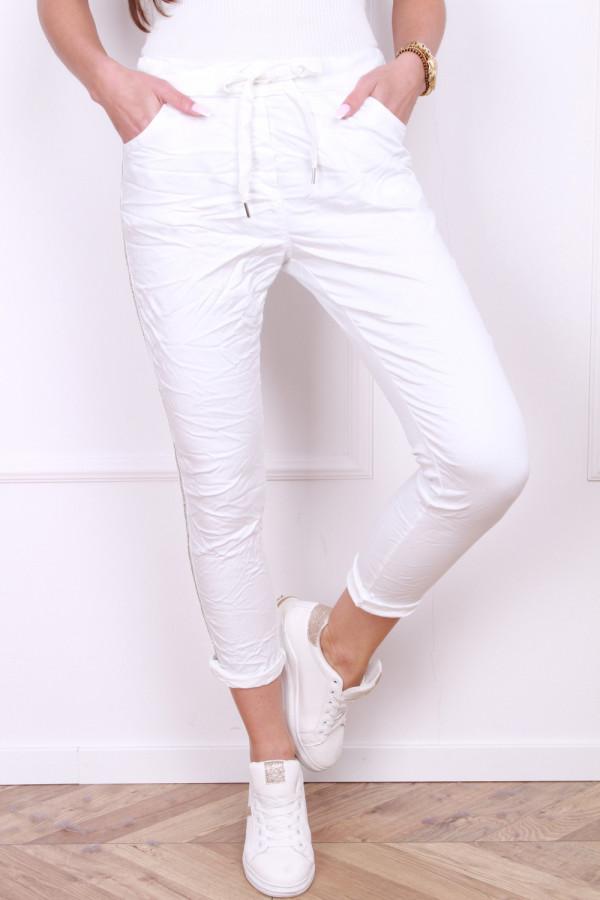 Spodnie gniecione z cyrkoniami 6