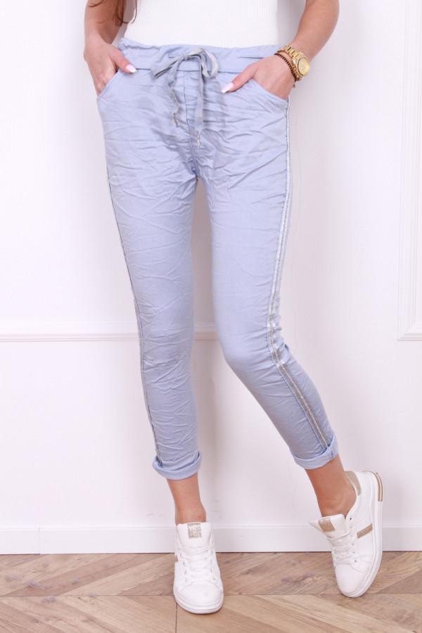 Spodnie gniecione z cyrkoniami 5