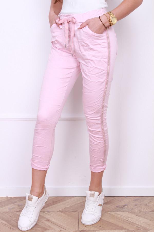 Spodnie gniecione z cyrkoniami 7