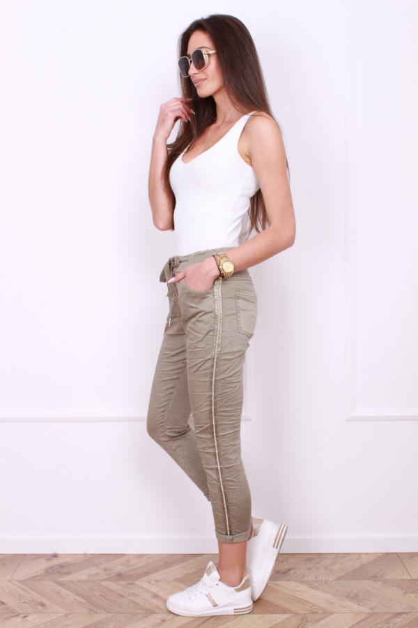 Spodnie gniecione z cyrkoniami 1