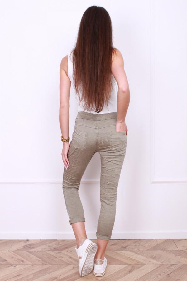 Spodnie gniecione z cyrkoniami 2