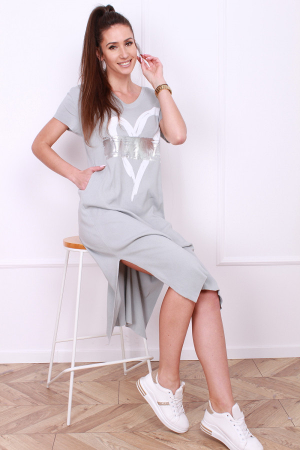 Sukienka długa Heart 8