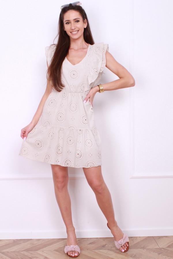 Sukienka midi z haftami 3