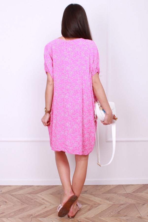 Sukienka midi w kwiaty 2