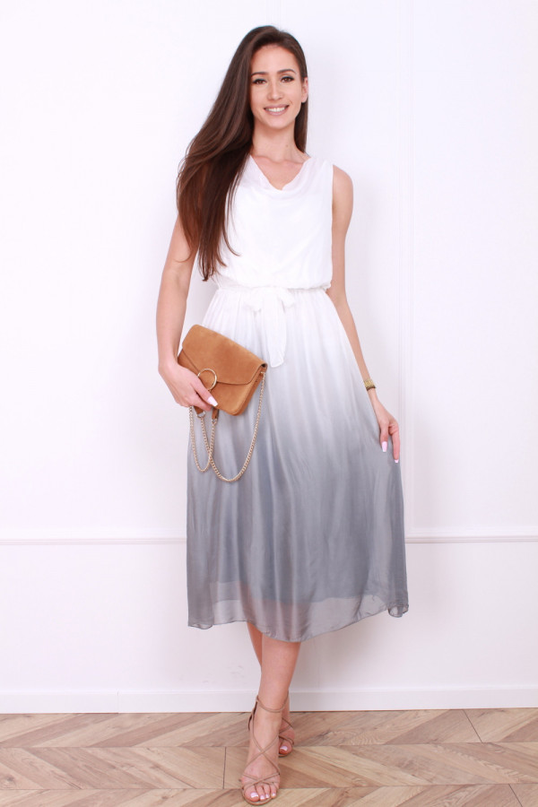 Sukienka dwukolorowa długa