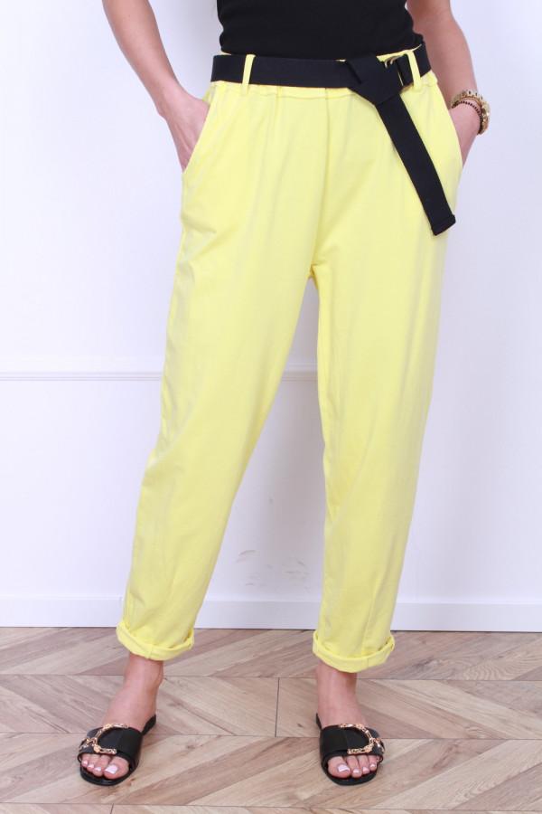 Spodnie dresowe z paskiem 5