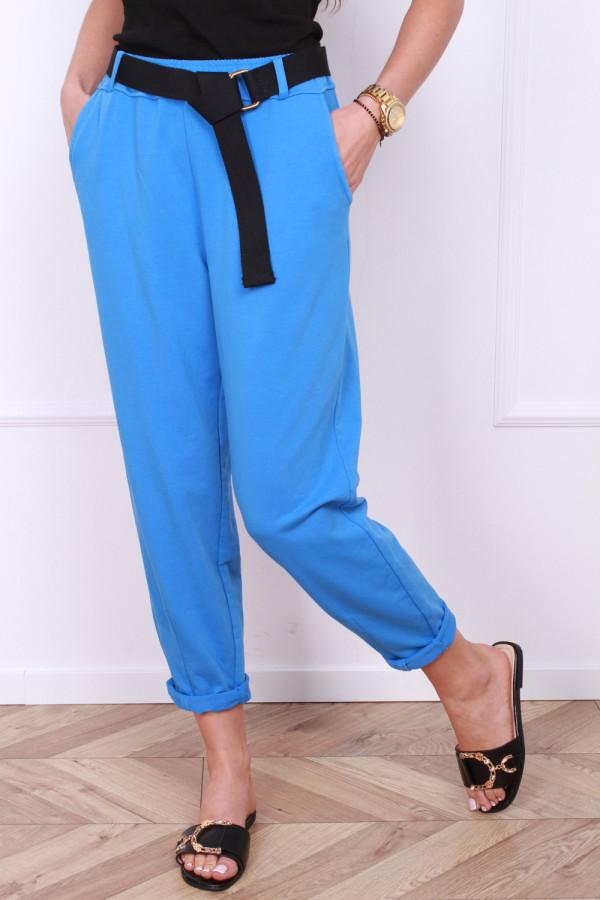 Spodnie dresowe z paskiem 8