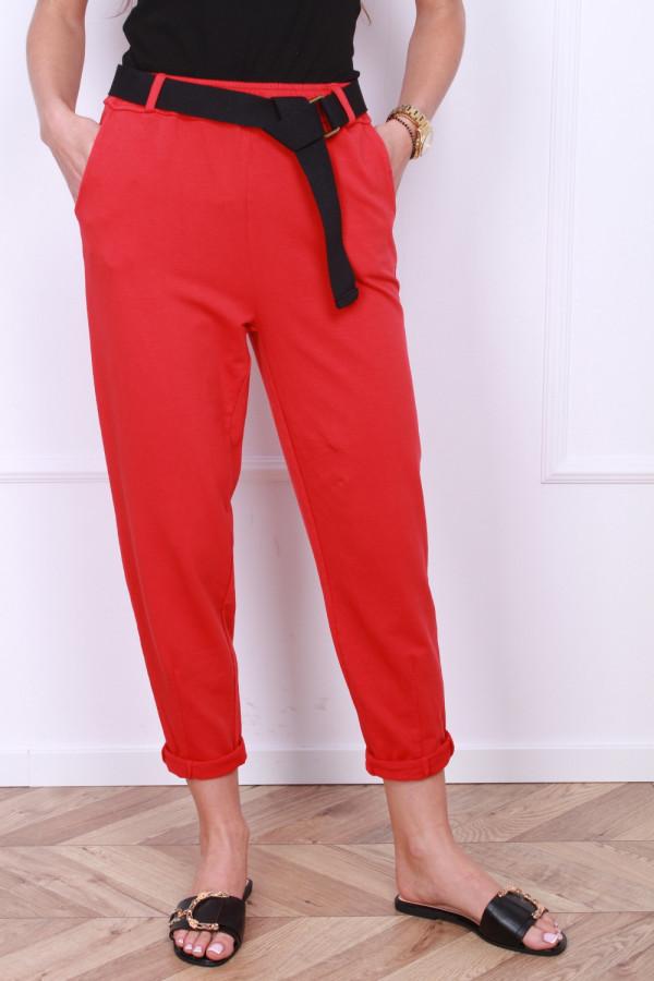 Spodnie dresowe z paskiem 7