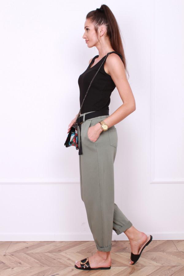 Spodnie dresowe z paskiem 1