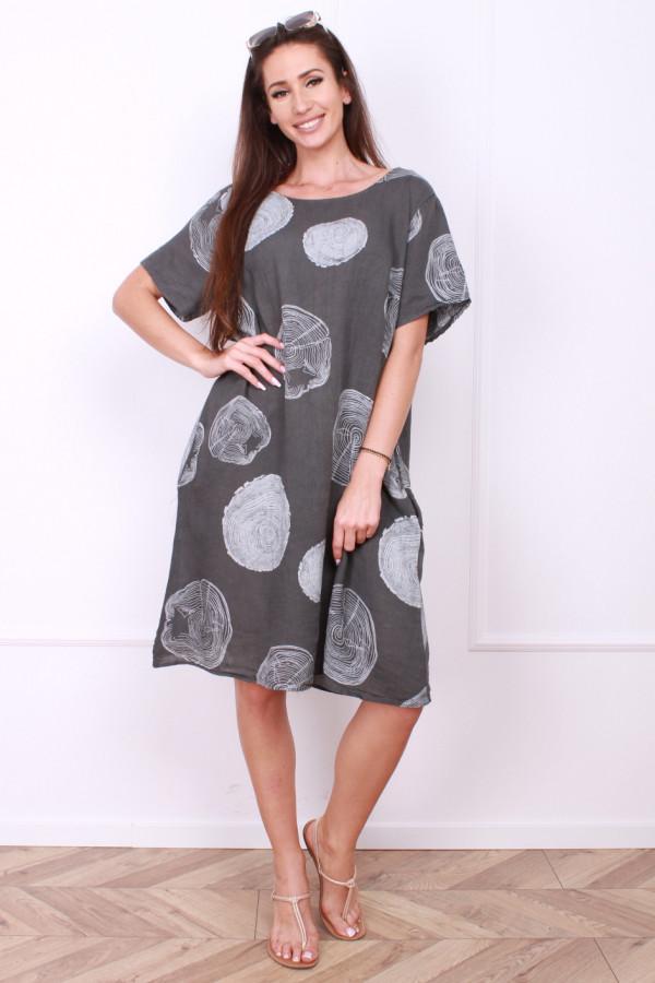 Sukienka lniana klasyczna 4