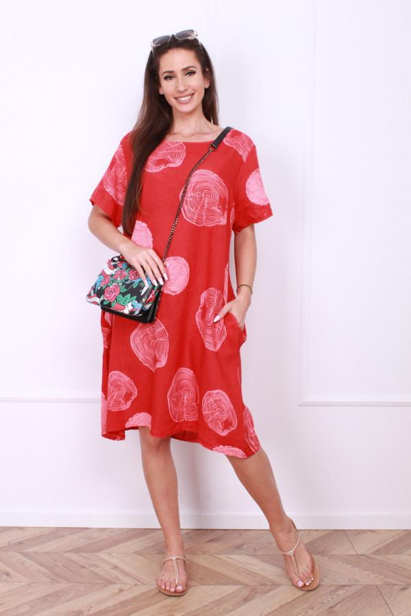 Sukienka lniana klasyczna 5
