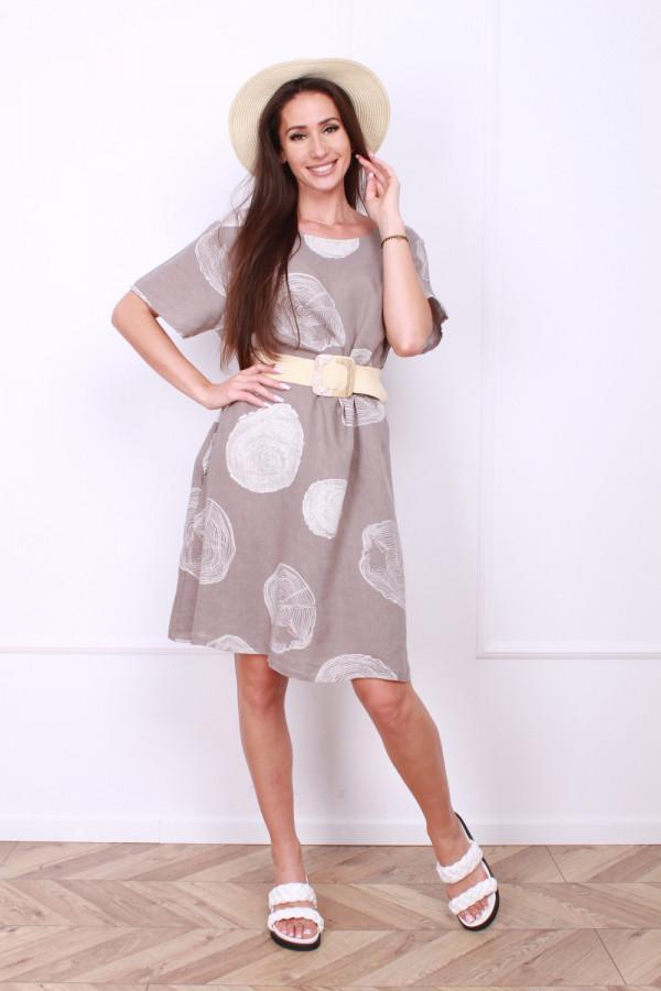 Sukienka lniana klasyczna 6