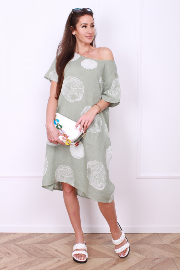 Sukienka lniana klasyczna 8