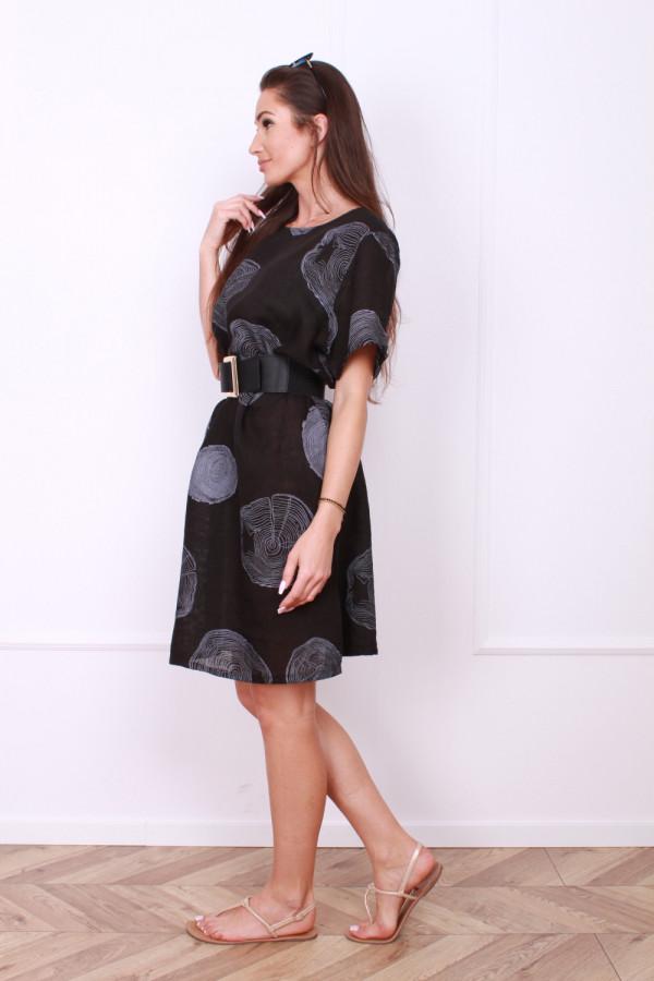 Sukienka lniana klasyczna 1