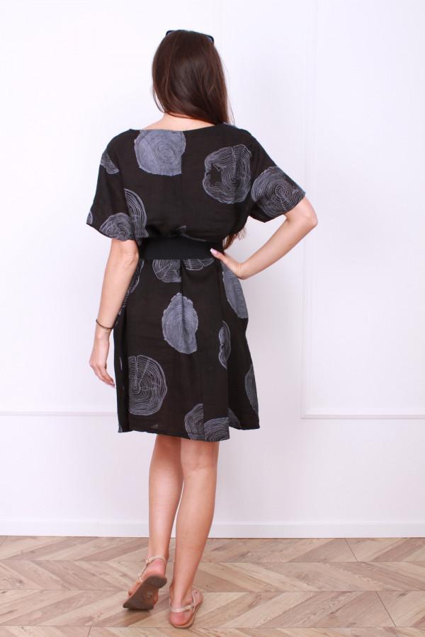 Sukienka lniana klasyczna 2