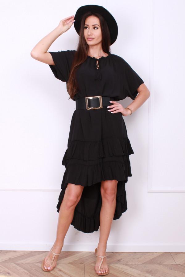 Sukienka gładka z falbankami 7