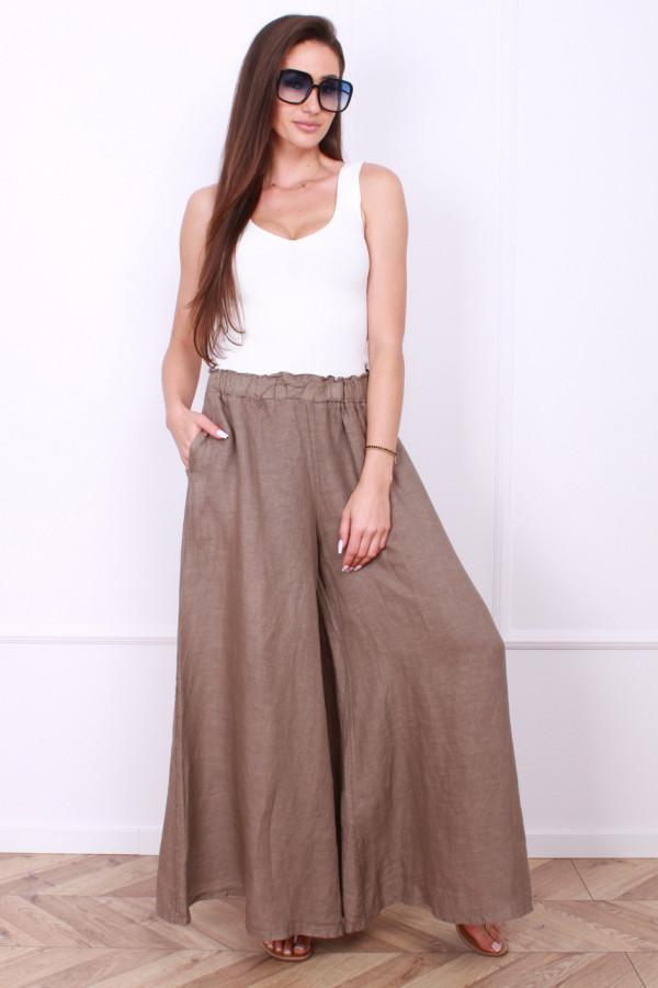 Spodnie szerokie lniane