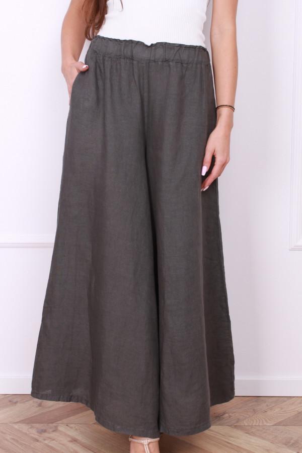 Spodnie szerokie lniane 3