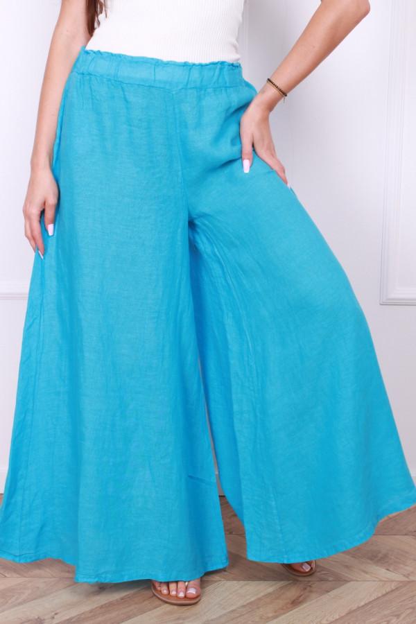 Spodnie szerokie lniane 4
