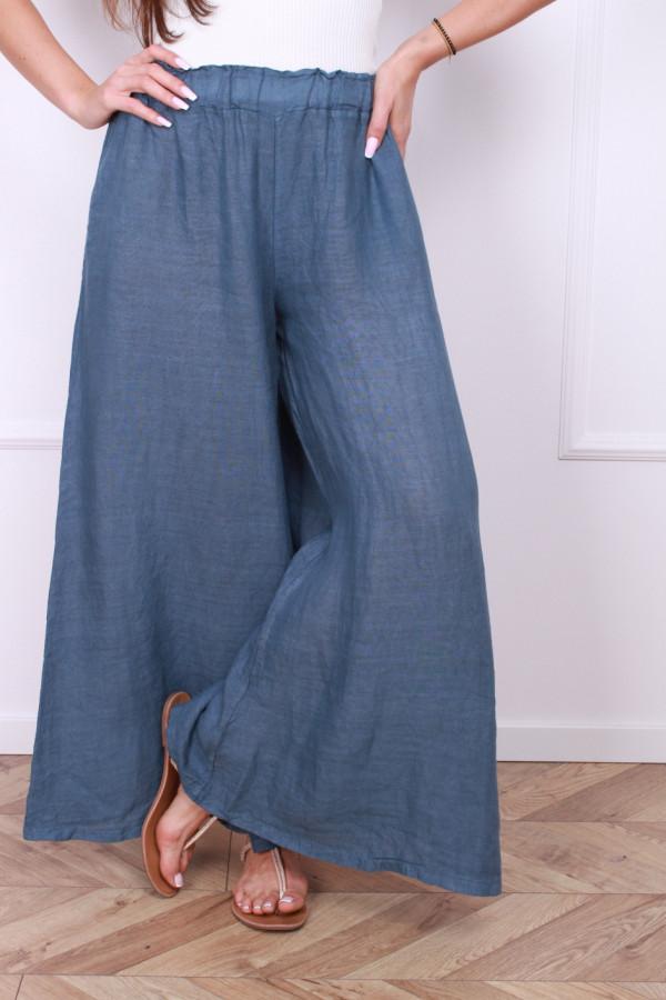 Spodnie szerokie lniane 5