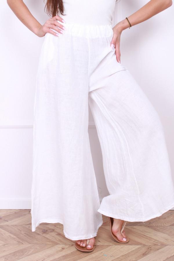 Spodnie szerokie lniane 6