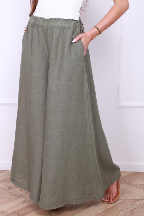 Spodnie szerokie lniane 7