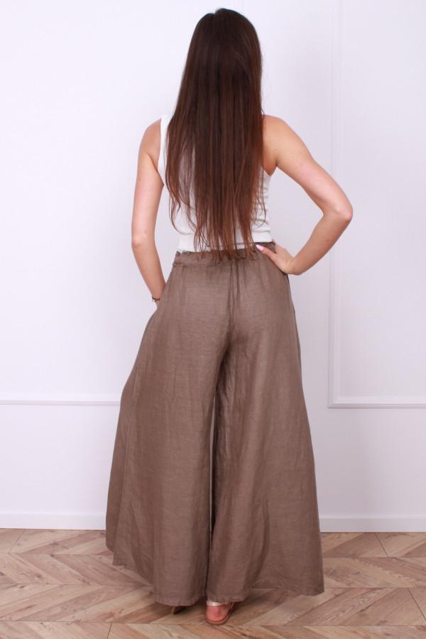 Spodnie szerokie lniane 2
