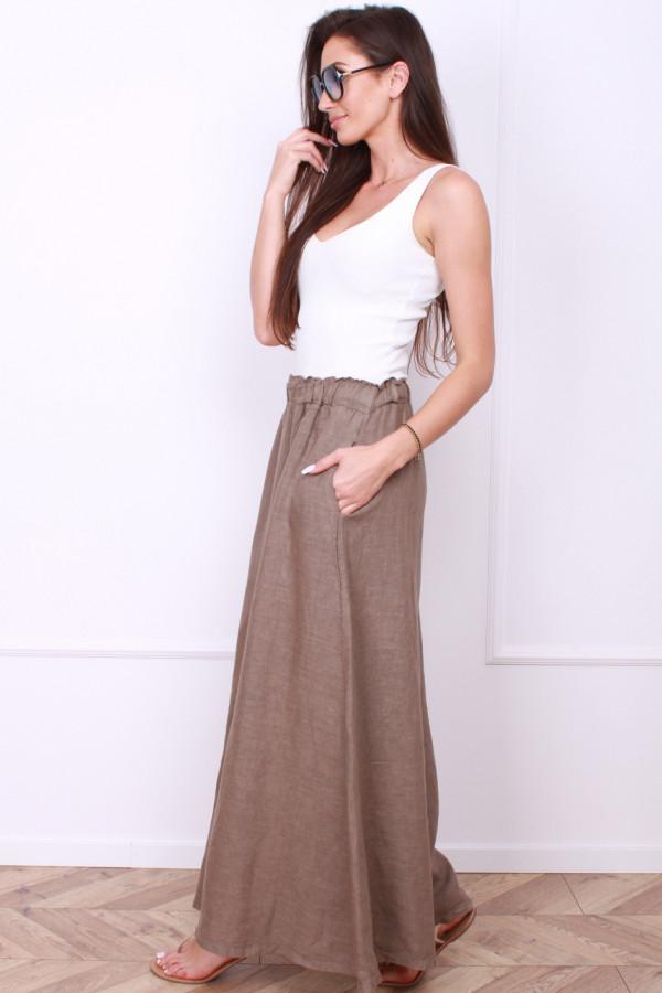 Spodnie szerokie lniane 1