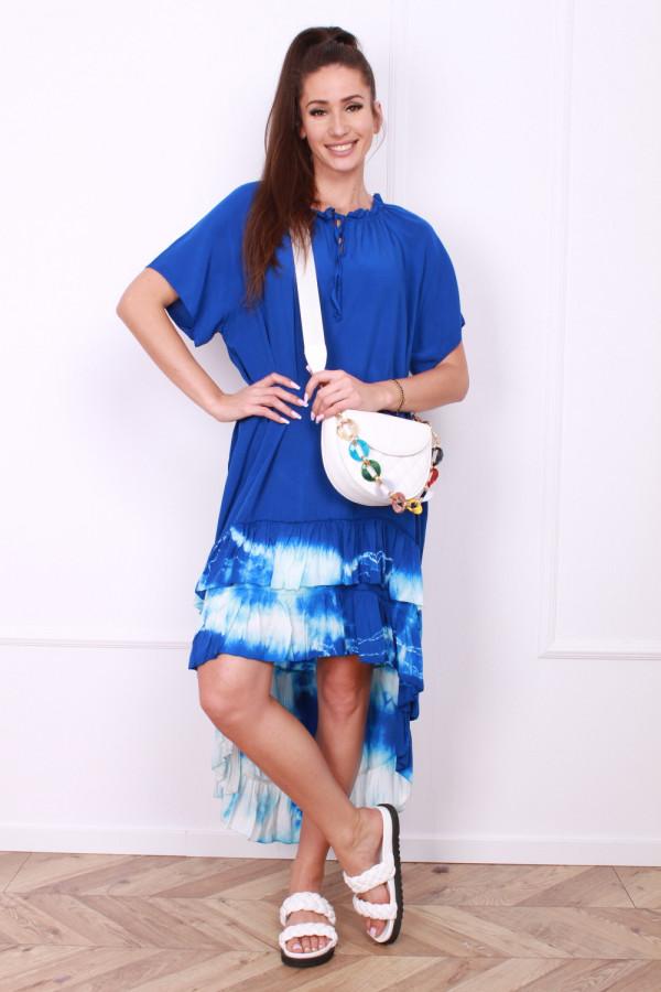 Sukienka z kolorową falbaną 7