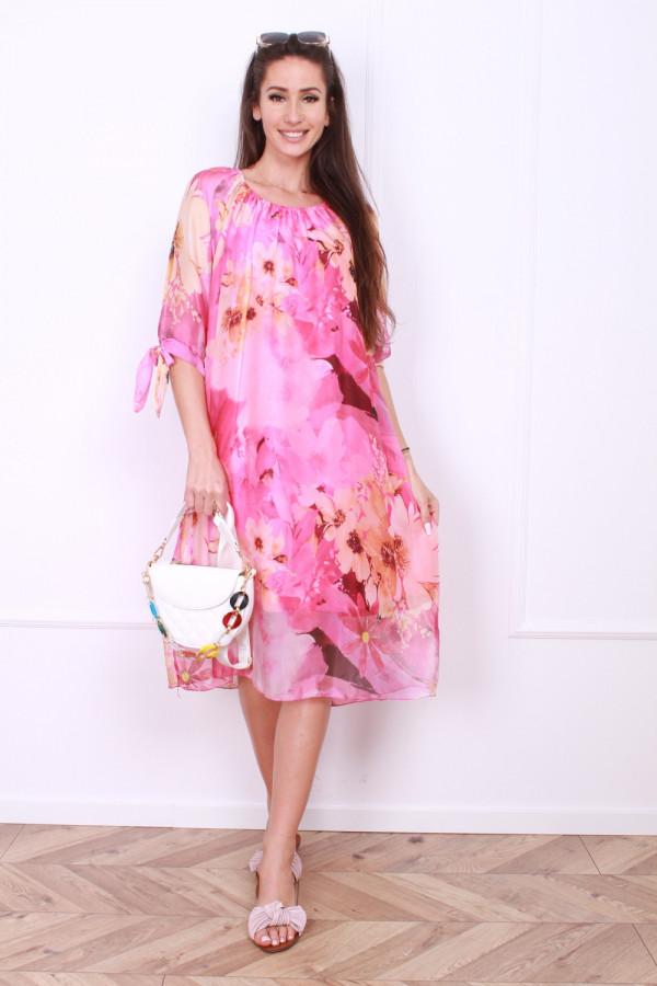 Sukienka zwiewna w kwiaty 6