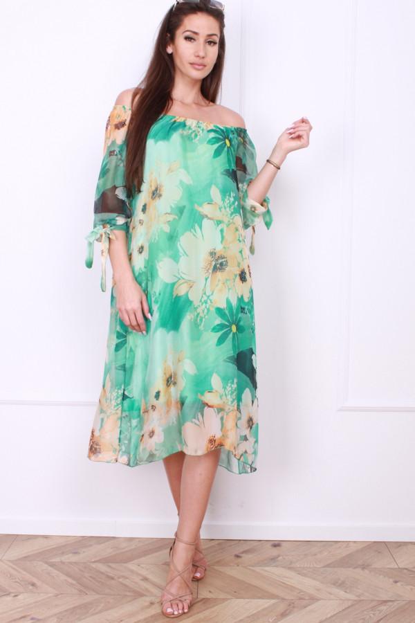 Sukienka zwiewna w kwiaty 7