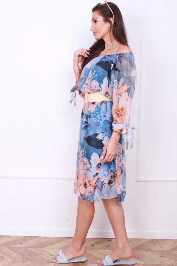 Sukienka zwiewna w kwiaty 1
