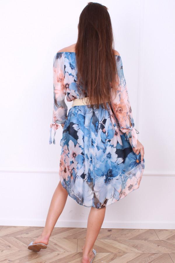 Sukienka zwiewna w kwiaty 2
