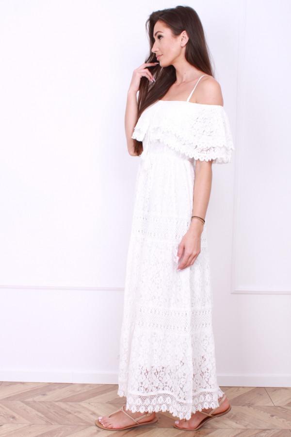 Sukienka biała boho 1