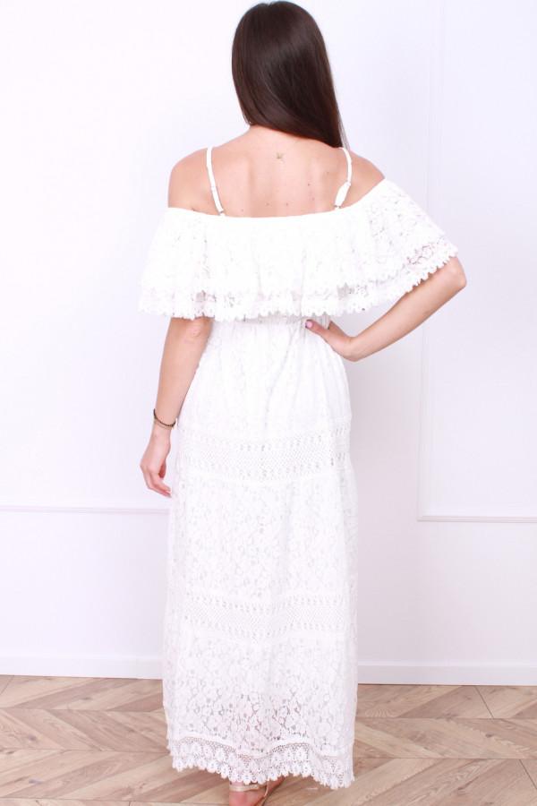 Sukienka biała boho 2