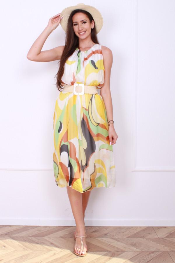 Sukienka midi wzorzysta