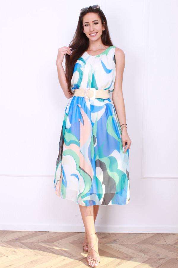 Sukienka midi wzorzysta 3