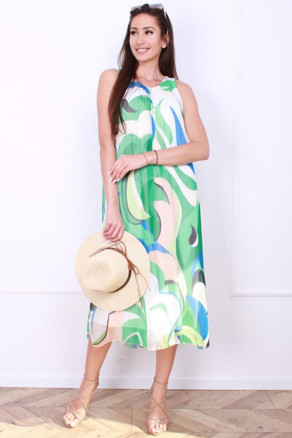 Sukienka midi wzorzysta 4