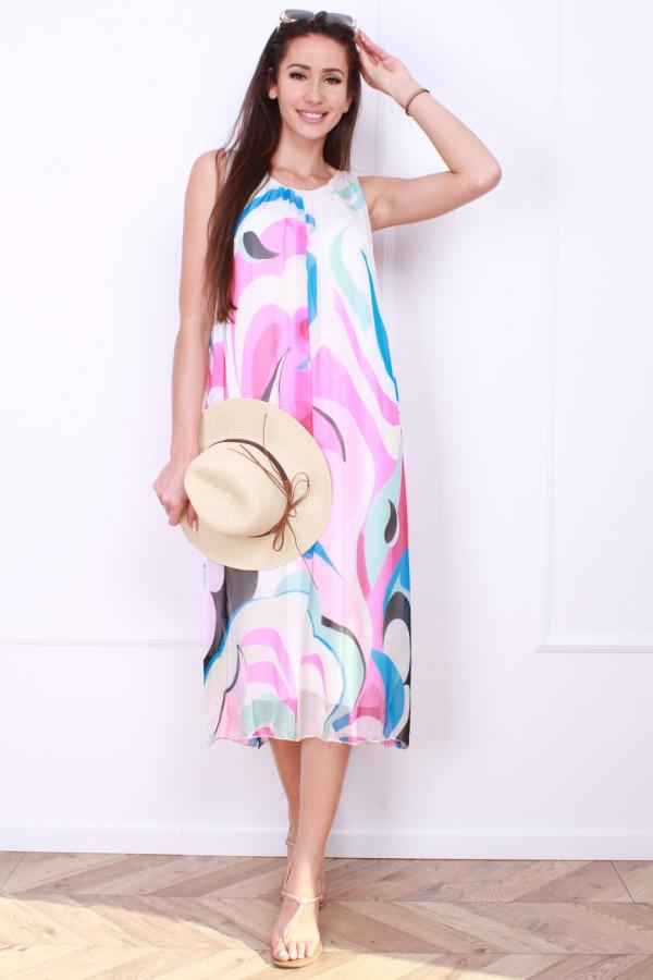 Sukienka midi wzorzysta 6