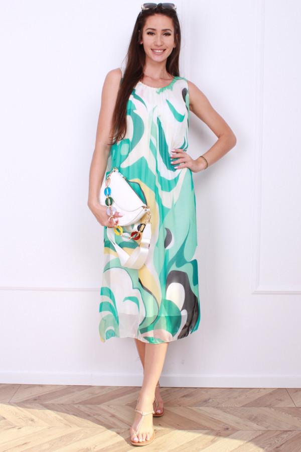 Sukienka midi wzorzysta 5