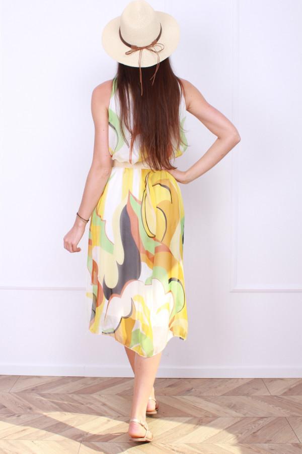 Sukienka midi wzorzysta 2