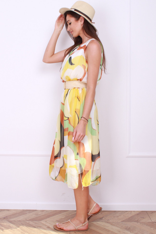 Sukienka midi wzorzysta 1