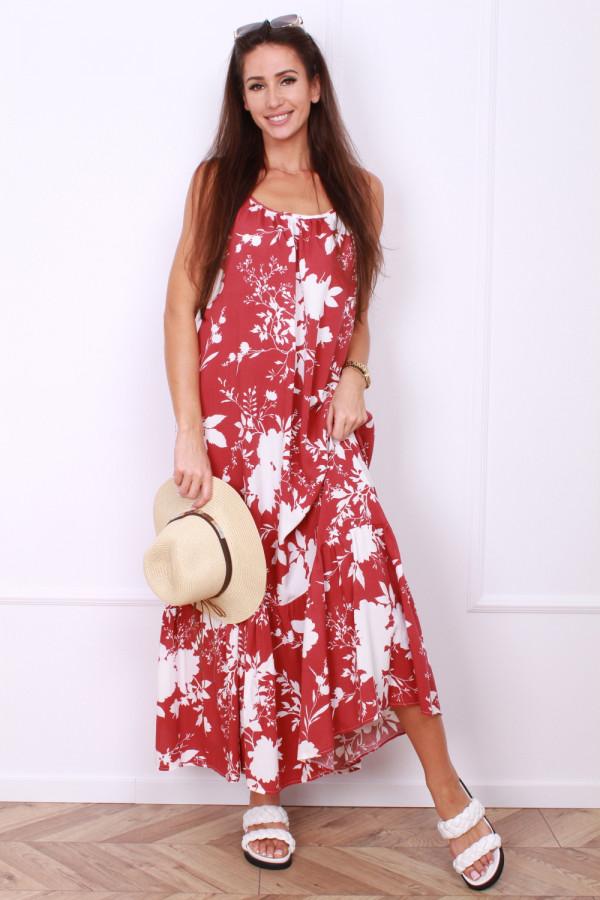 Sukienka w kwiaty na ramiączkach 3