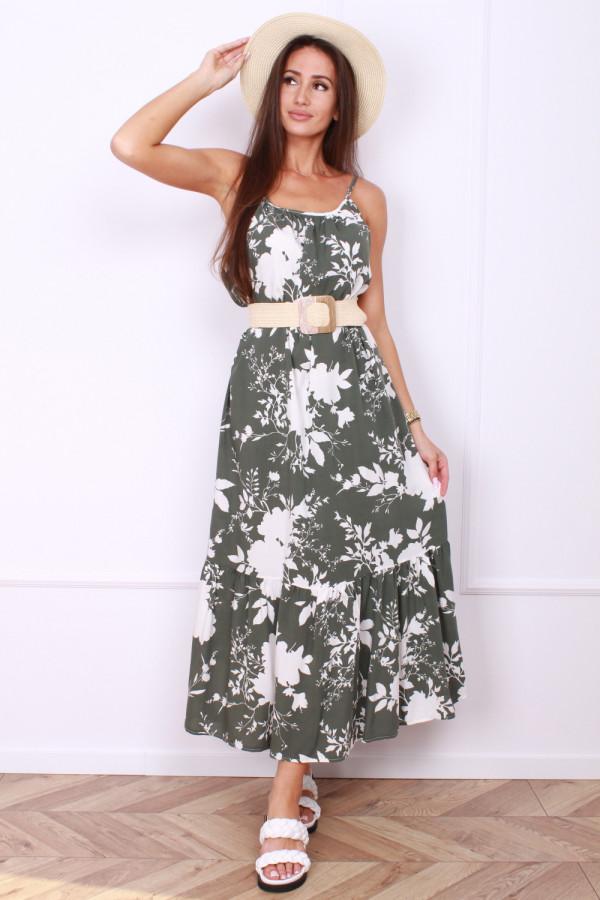 Sukienka w kwiaty na ramiączkach 4