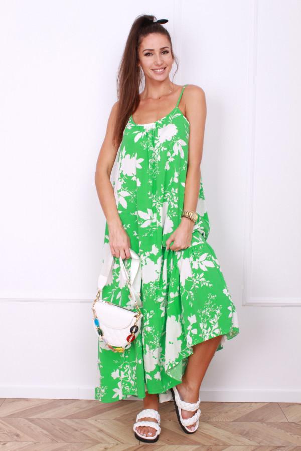 Sukienka w kwiaty na ramiączkach 5