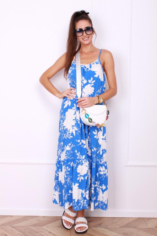 Sukienka w kwiaty na ramiączkach 6